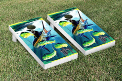 Marlin and Dorado Cornhole Set with Bags