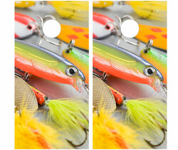 Fishing Lures Cornhole Set with Bags