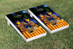 Tiki Time Cornhole Set with Bags