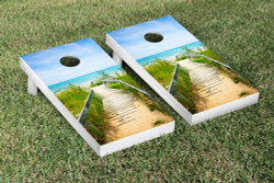 Beach Dock Cornhole Set with Bags