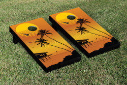 Beach Sunset Cornhole Set with Bags