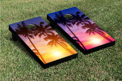 Palm Tree Paradise Cornhole Set with Bags