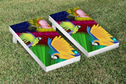 Parrot Paradise Cornhole Set with Bags