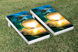 Surfing Wave Cornhole Set with Bags