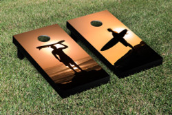 Surfing Sunset Cornhole Set with Bags
