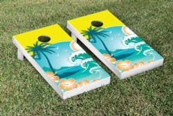 Tropical Paradise Cornhole Set with Bags