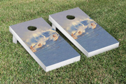 Vintage Surfing Cornhole Set with Bags
