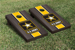 Onyx Stained US Army Cornhole Set with Bags