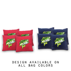 Fishing Cornhole Bags - Set of 8