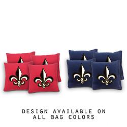 Fleur de Lis Cornhole Bags - Set of 8