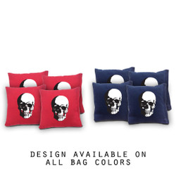 Skull Cornhole Bags - Set of 8