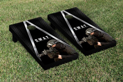 Police SWAT Cornhole Set with Bags
