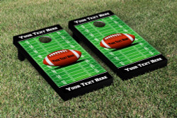 Custom Football Field Cornhole Set with Bags