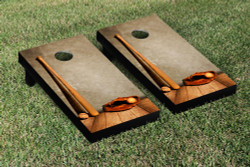 Baseball Glove & Bat Cornhole Set with Bags