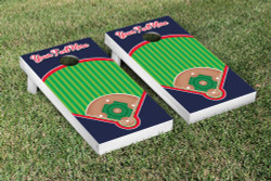Custom Baseball Field Cornhole Set with Bags