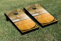 Basketball Court Cornhole Set with Bags
