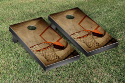 Basketball Hoop Cornhole Set with Bags