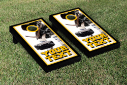 Custom Hockey Puck Cornhole Set with Bags