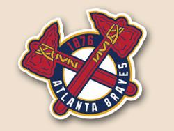Atlanta Braves Cornhole Decal