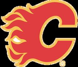 Calgary Flames Cornhole Decal