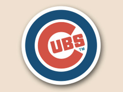 Chicago Cubs Cornhole Decal