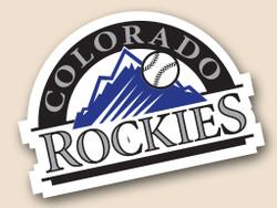 Colorado Rockies Cornhole Decal