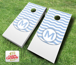 Wedding Chevron Initial Cornhole Set with Bags