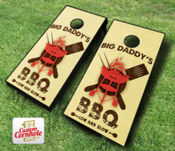Personalized BBQ Cornhole Set with Bags