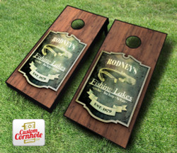Personalized Fishing Cornhole Set with Bags