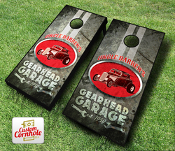Personalized Gearhead Garage Cornhole Set with Bags