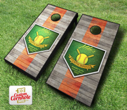Personalized 10th Inning Baseball Cornhole Set with Bags