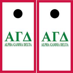 Alpha Gamma Delta Cornhole Wraps