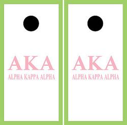 Alpha Kappa Alpha Cornhole Wraps