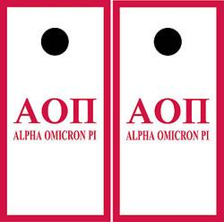 Alpha Omicron Pi Cornhole Wraps