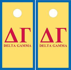 Delta Gamma Cornhole Wraps