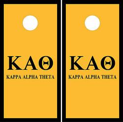 Kappa Alpha Theta Cornhole Wraps
