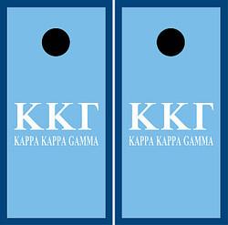 Kappa Kappa Gamma Cornhole Wraps