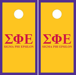 Sigma Phi Epsilon Cornhole Wraps