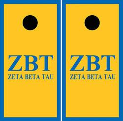 Zeta Beta Tau Cornhole Wraps