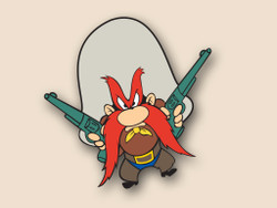 Yosemite Sam Cornhole Decals