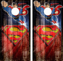 Superman Cornhole Wraps