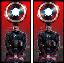 Captain America Cornhole Wraps