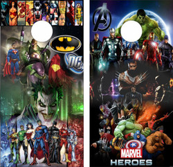 Marvel / DC Cornhole Wraps