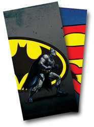 Batman and Superman Cornhole Wraps