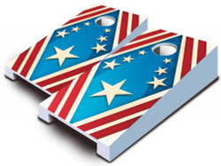 Patriotic Tabletop Cornhole Set with Bags