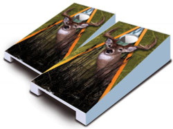 Deer Tabletop Cornhole Set with Bags
