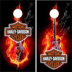 Harley Davidson Guitar Cornhole Wraps
