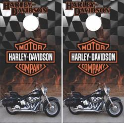 Harley Davidson Motorcycle Cornhole Wraps