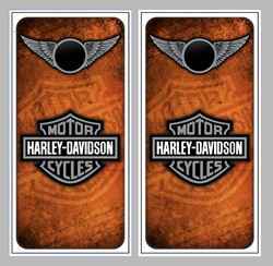 Harley Davidson Wings Cornhole Wraps
