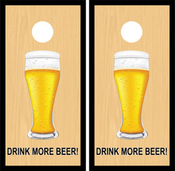 Drink More Beer Glass Cornhole Wraps
